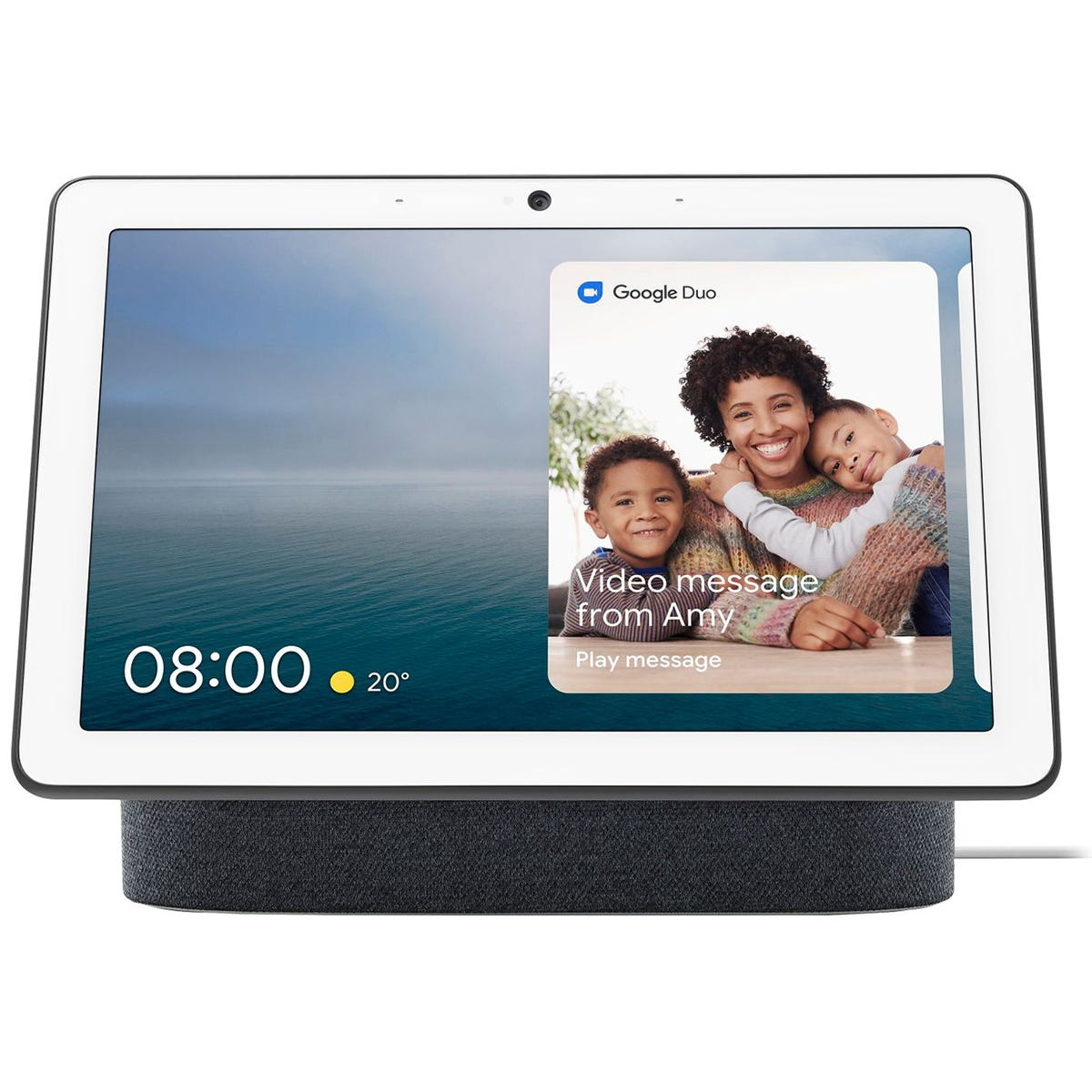 """Google Nest Hub Max with Google Assistant & 10"""" Screen - Charcoal"""