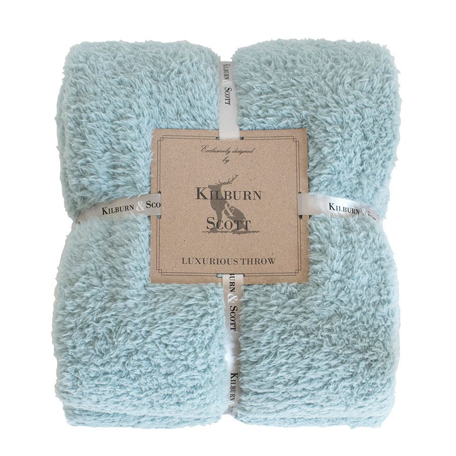 Compare prices for Gallery Teddy Fleece Throw - Duck Egg