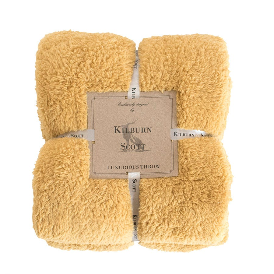 Compare prices for Gallery Teddy Fleece Throw - Ochre