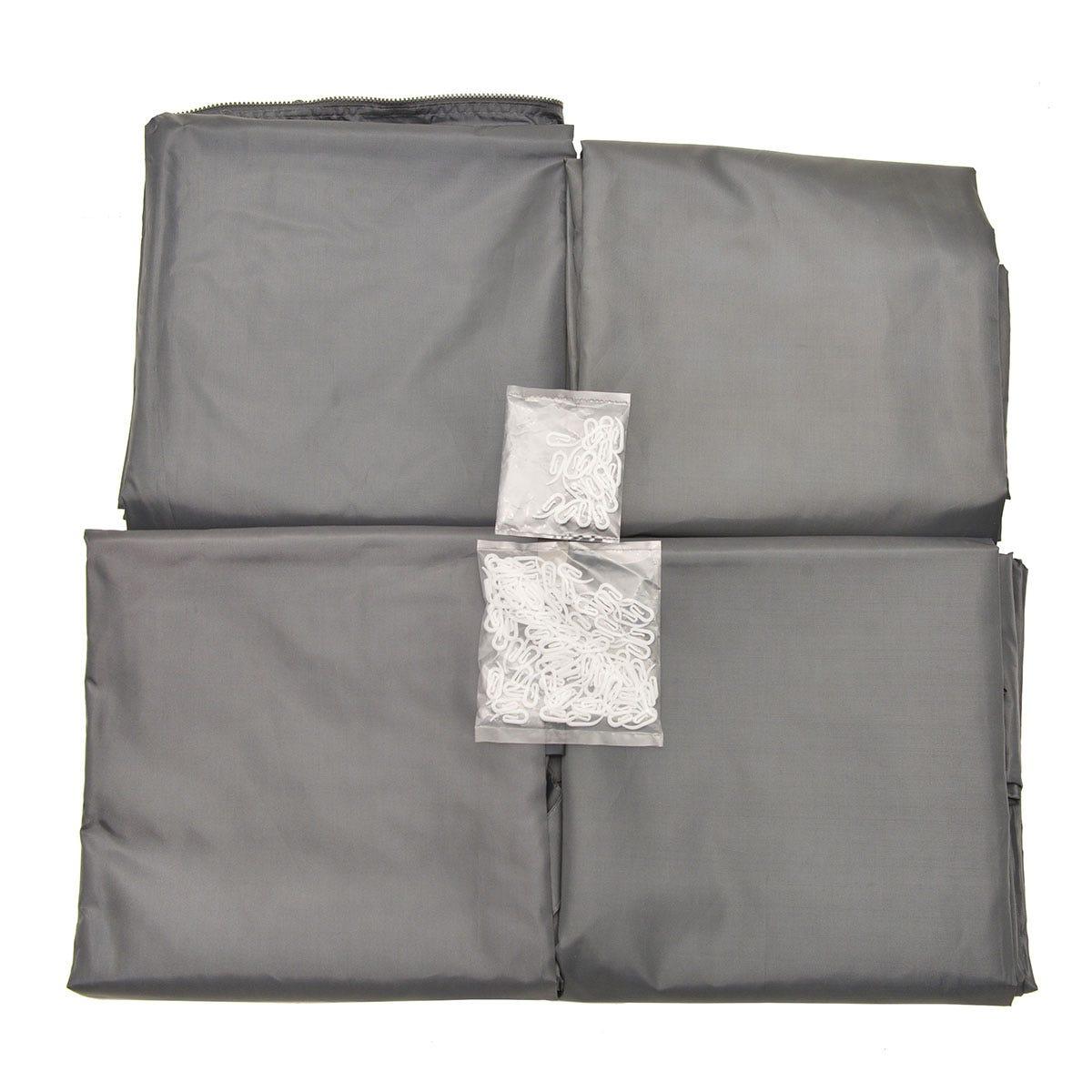 Palram Square Gazebo Curtain Set - Black