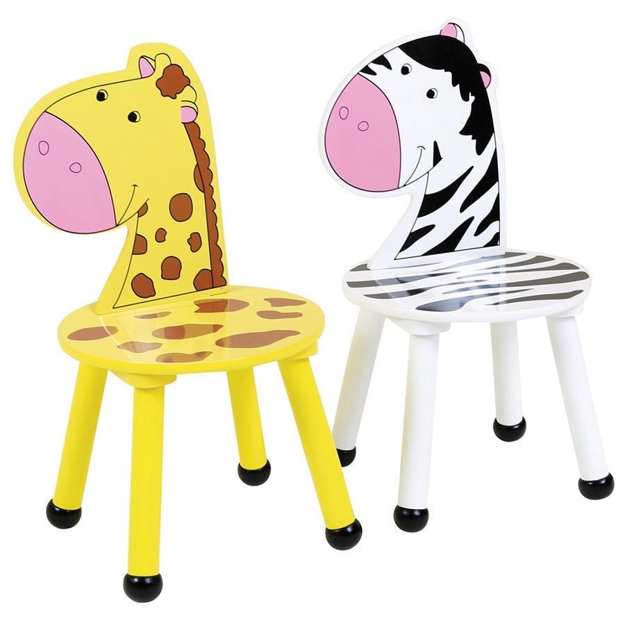 Cheapest price of Charles Bentley Kids Jungle Safari Zebra Chairs - Set of 2 in new is £24.99