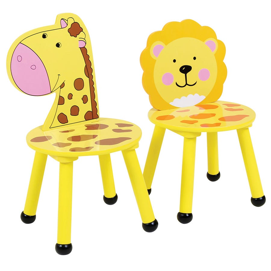 Compare cheap offers & prices of Charles Bentley Kids Jungle Safari Lion Chairs - Set of 2 manufactured by Charles Bentley