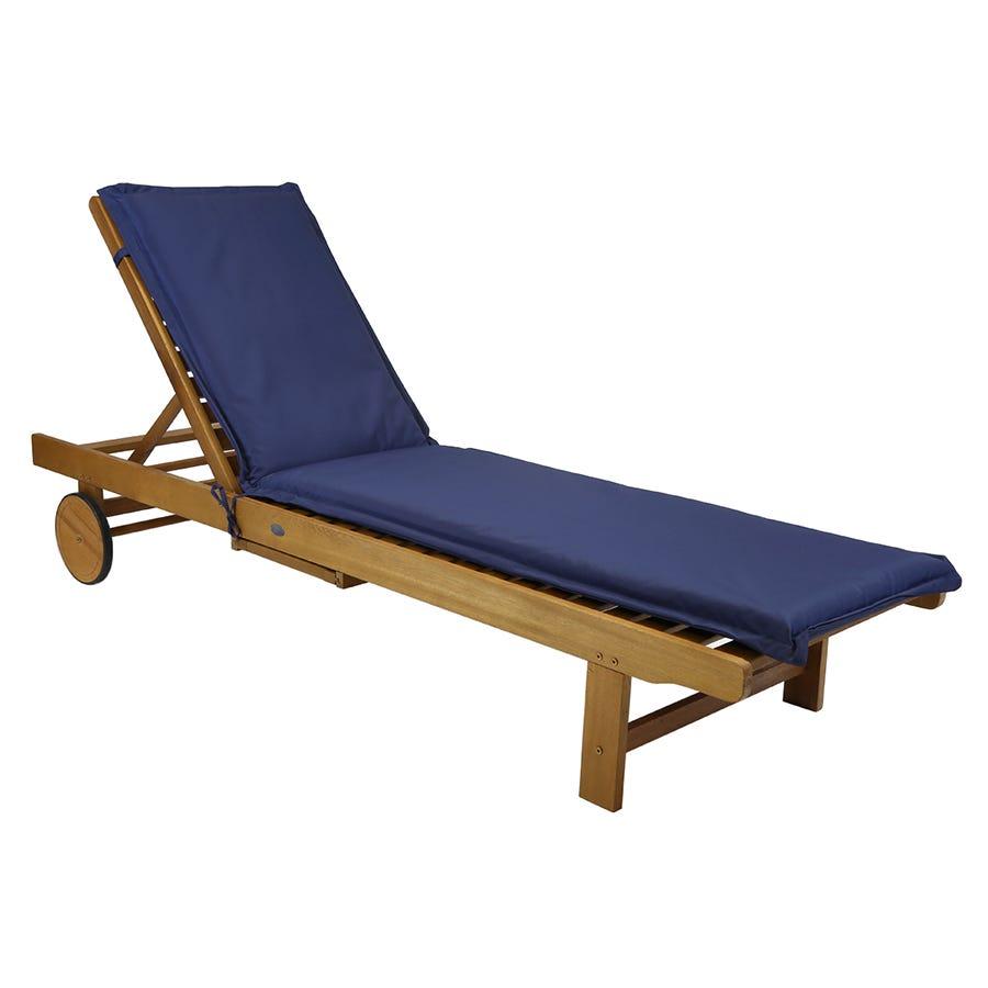 Charles Bentley Garden Sun Lounger Cushions - Blue