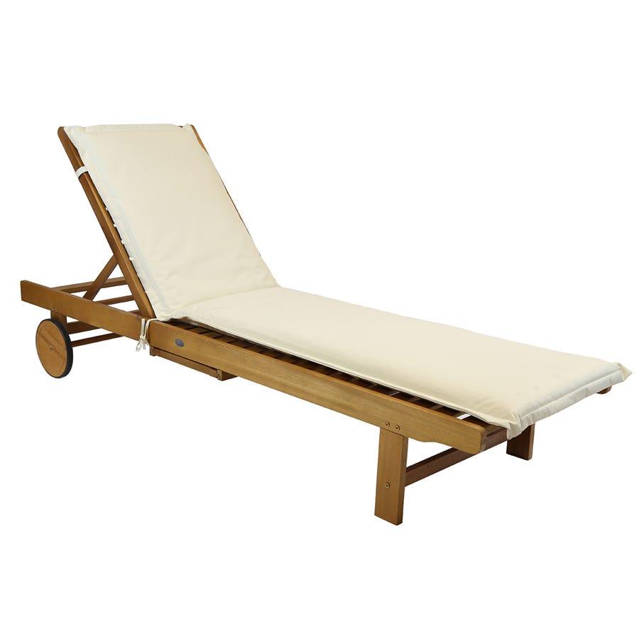 Charles Bentley Garden Sun Lounger Cushions - Cream