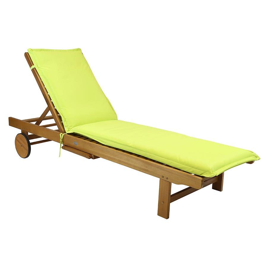 Charles Bentley Garden Sun Lounger Cushions - Green
