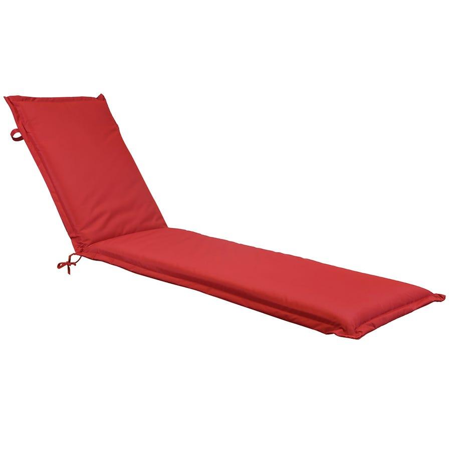 Charles Bentley Garden Sun Lounger Cushions - Red