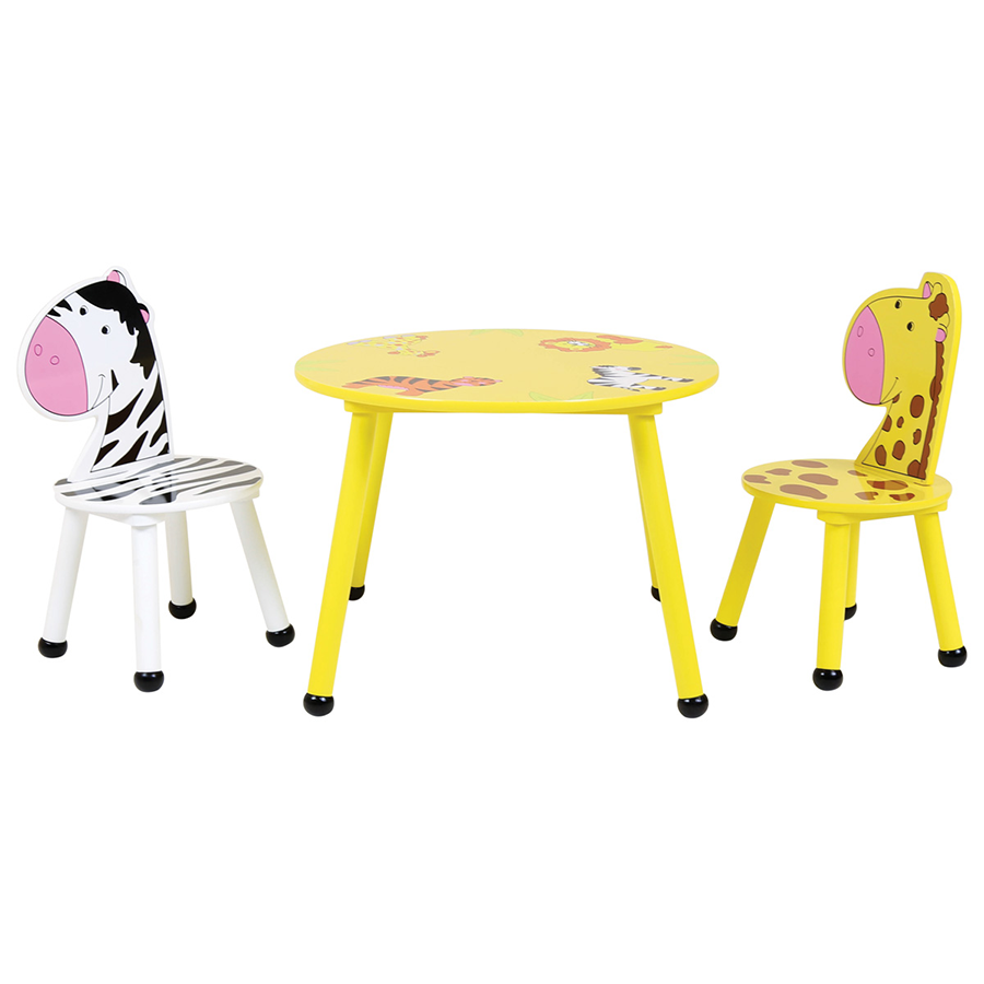 Cheapest price of Charles Bentley Kids Jungle Safari Table and 2 Chairs in new is £53.99