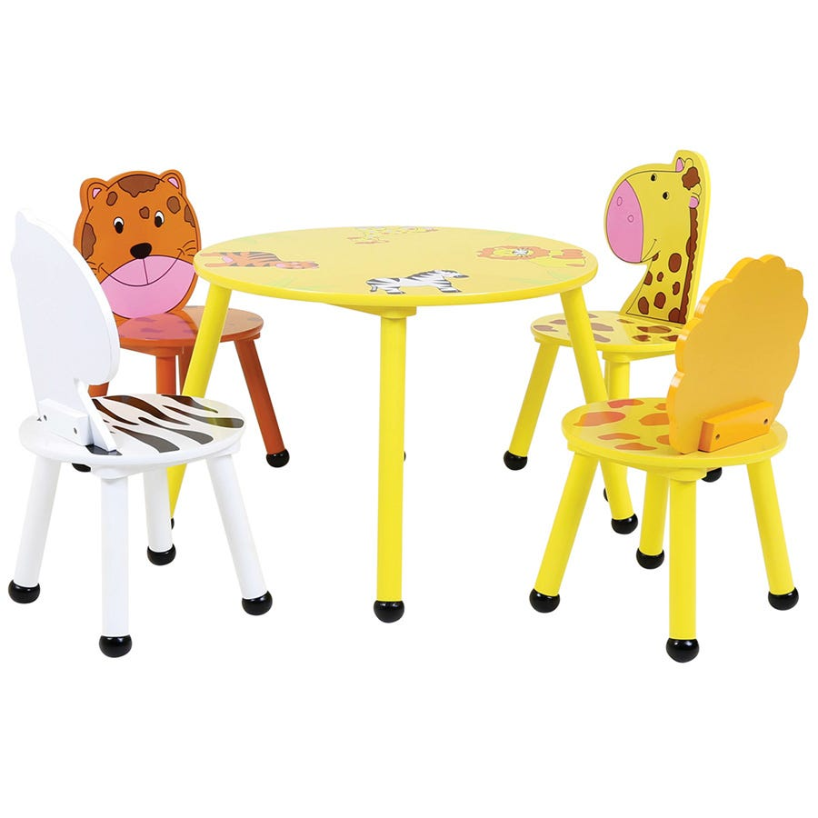 Compare cheap offers & prices of Charles Bentley Kids Jungle Safari Table and 4 Chairs manufactured by Charles Bentley