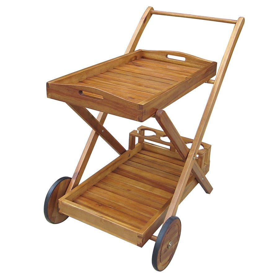 Compare cheap offers & prices of Charles Bentley Wooden Food and Drinks Trolley with Wheels and Tray manufactured by Charles Bentley