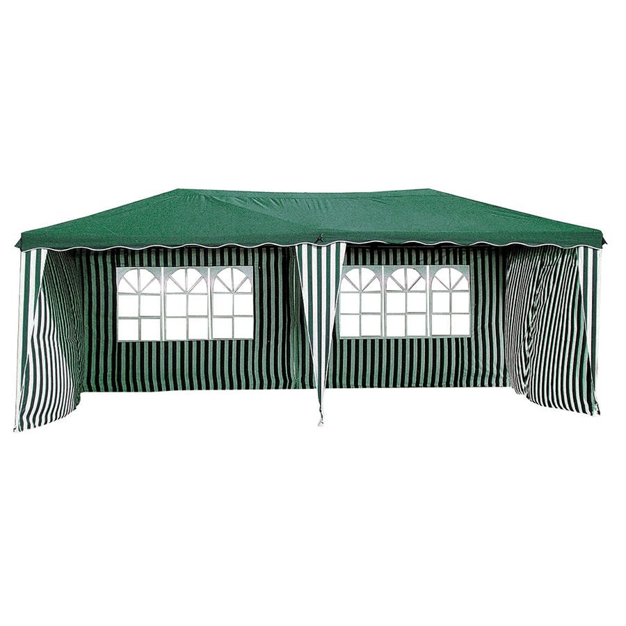 Image of Charles Bentley 6m X 3m Tent - Green & White