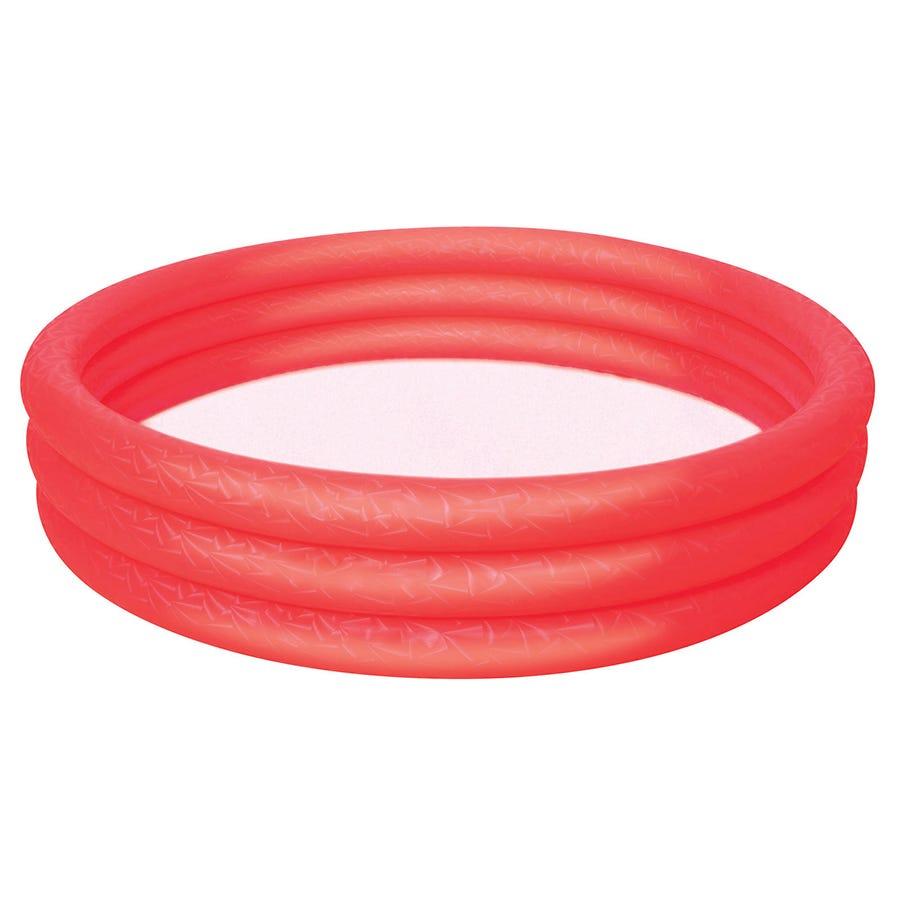 Charles Bentley Bestway Inflatable 6ft Ring Paddling Pool Red