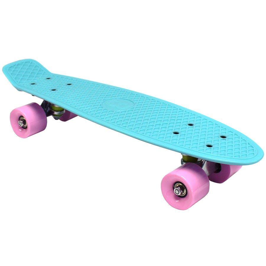 Compare cheap offers & prices of Charles Bentley 22 Inch Retro Cruiser Mini Plastic Skateboard Aqua Blue manufactured by Charles Bentley