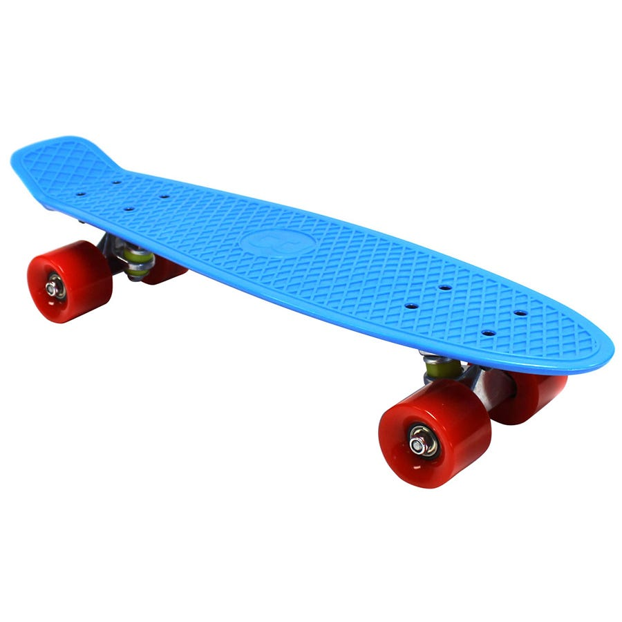 Compare cheap offers & prices of Charles Bentley 22 Inch Retro Cruiser Plastic Skateboard Blue manufactured by Charles Bentley