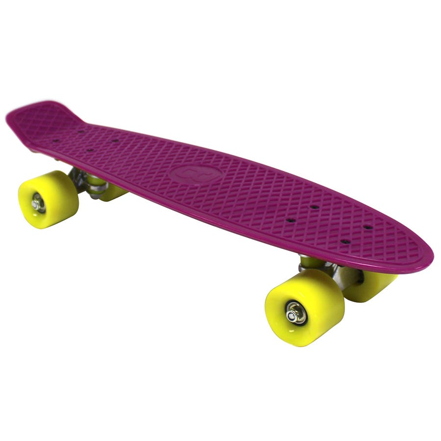 Compare cheap offers & prices of Charles Bentley 22 Inch Retro Cruiser Plastic Skateboard Purple manufactured by Charles Bentley