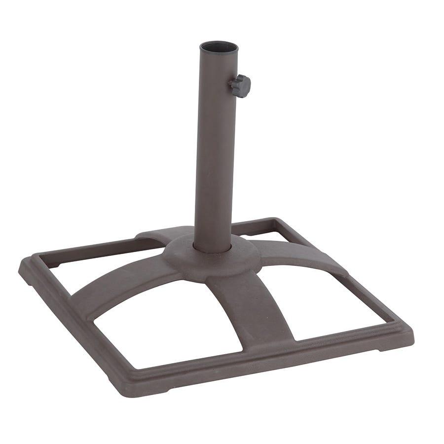 Image of Charles Bentley 10kg Cast Iron Metal Square Parasol Base - Bronze