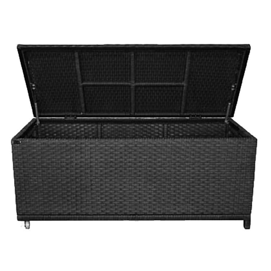 Charles Bentley Garden Storage Cushion Box Chest - Dark Brown