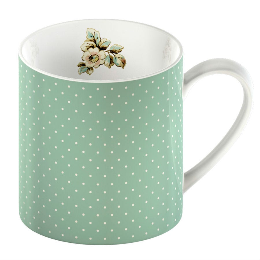 Compare prices for Creative Tops Katie Alice Cottage Flower Spot Mug - Green