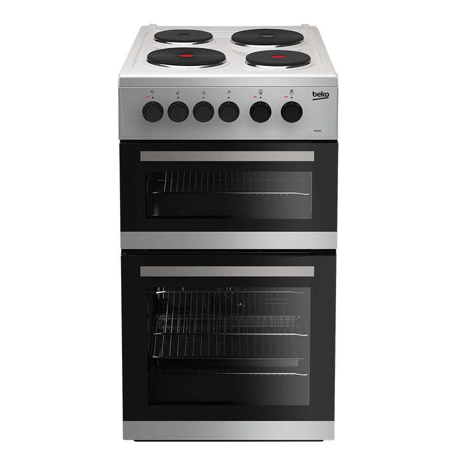 Compare cheap offers & prices of Beko KD533AS Double Oven Electric Cooker - Silver manufactured by Beko