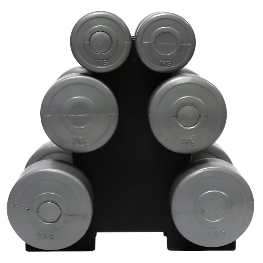 Charles Bentley Set Of Six 16kg Dumbbell Weights Exercise Resistance