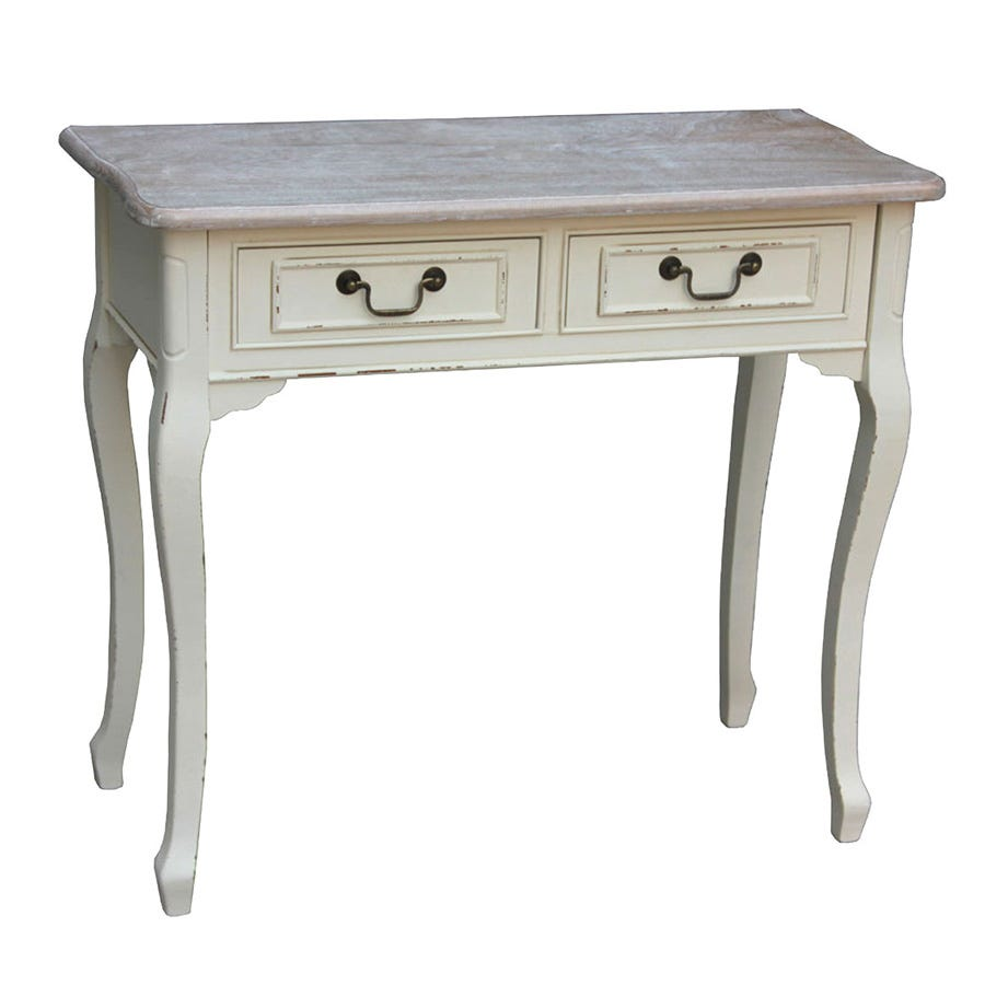Charles Bentley Maison Vintage Console Table with Drawers - Cream