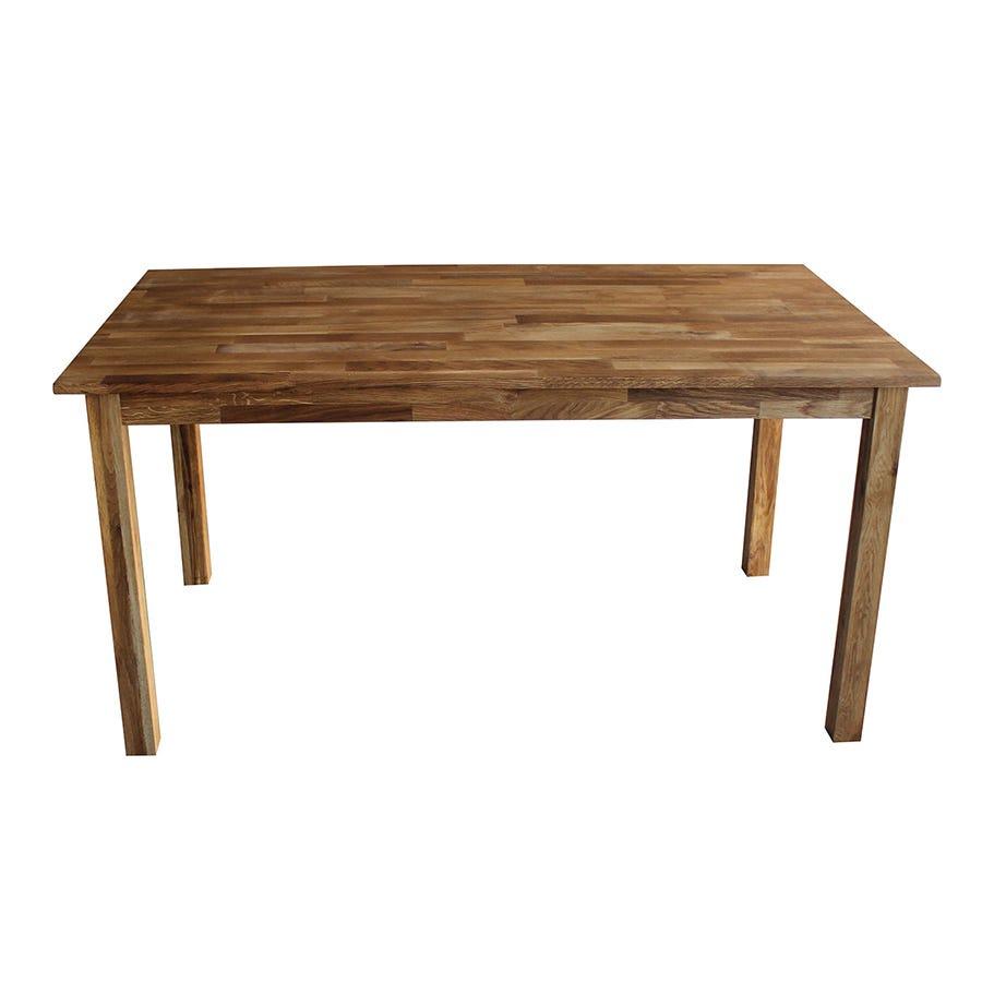 Charles Bentley Solid Oak Rectangular Dining Table