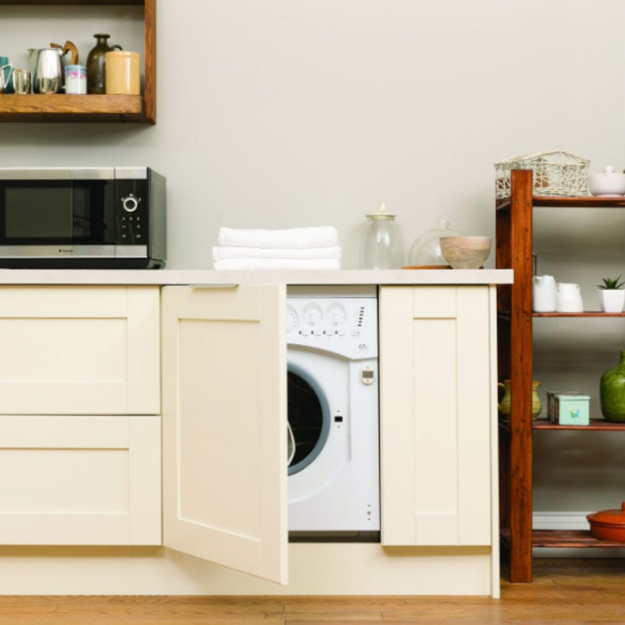 Hotpoint Aquarius BHWD 129/1 Built-in 6KG 1200rpm Integrated Washer Dryer - White