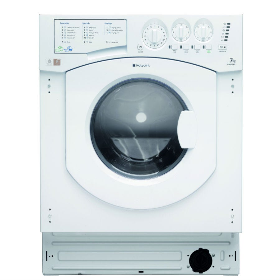 Compare retail prices of Hotpoint Aquarius BHWD149/1 Built-in Washer Dryer - White to get the best deal online