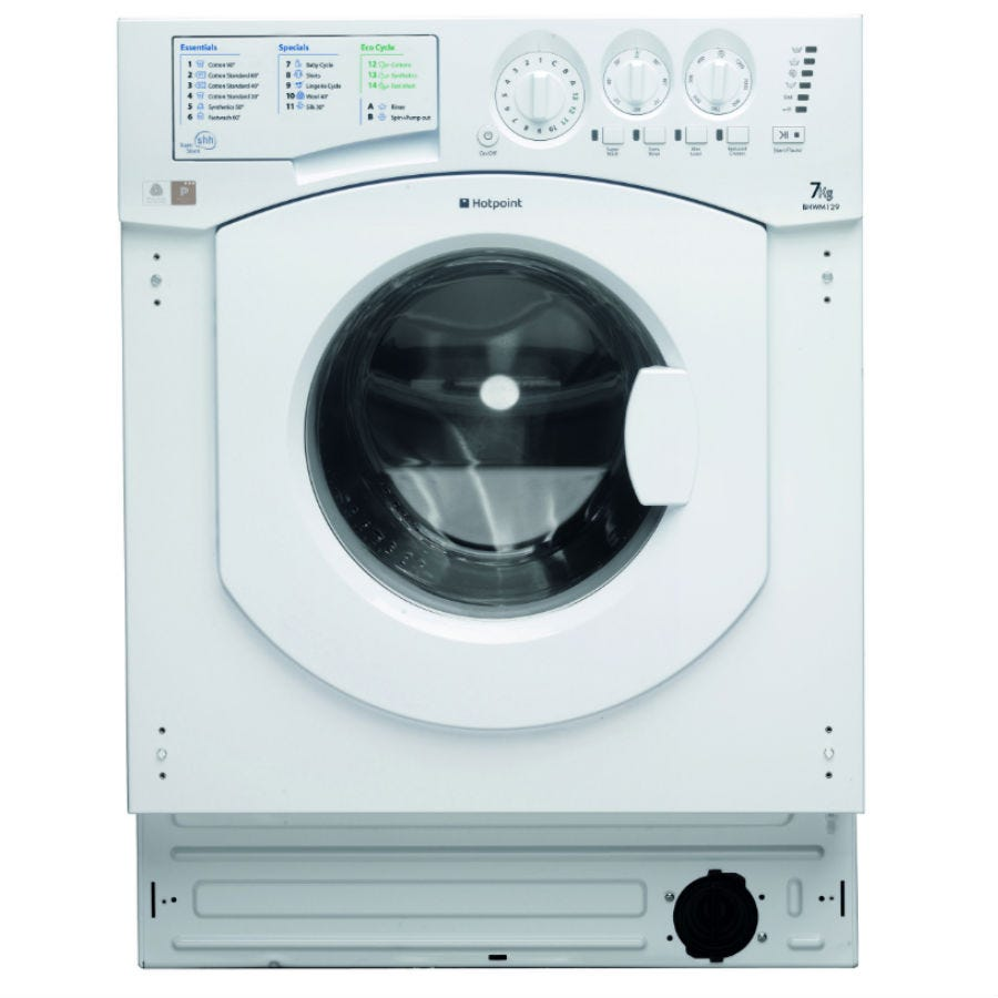Compare prices for Hotpoint Aquarius BHWM129 7kg Built-In Washing Machine - White