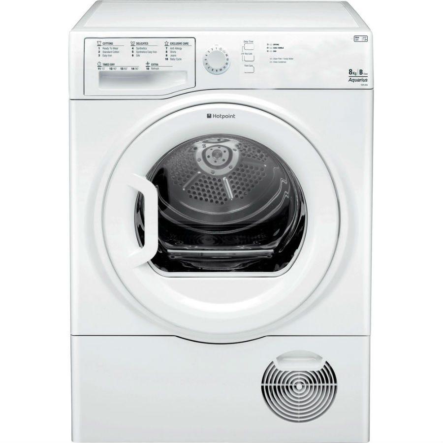 Hotpoint Aquarius TCFS835BGP Condenser Tumble Dryer - White