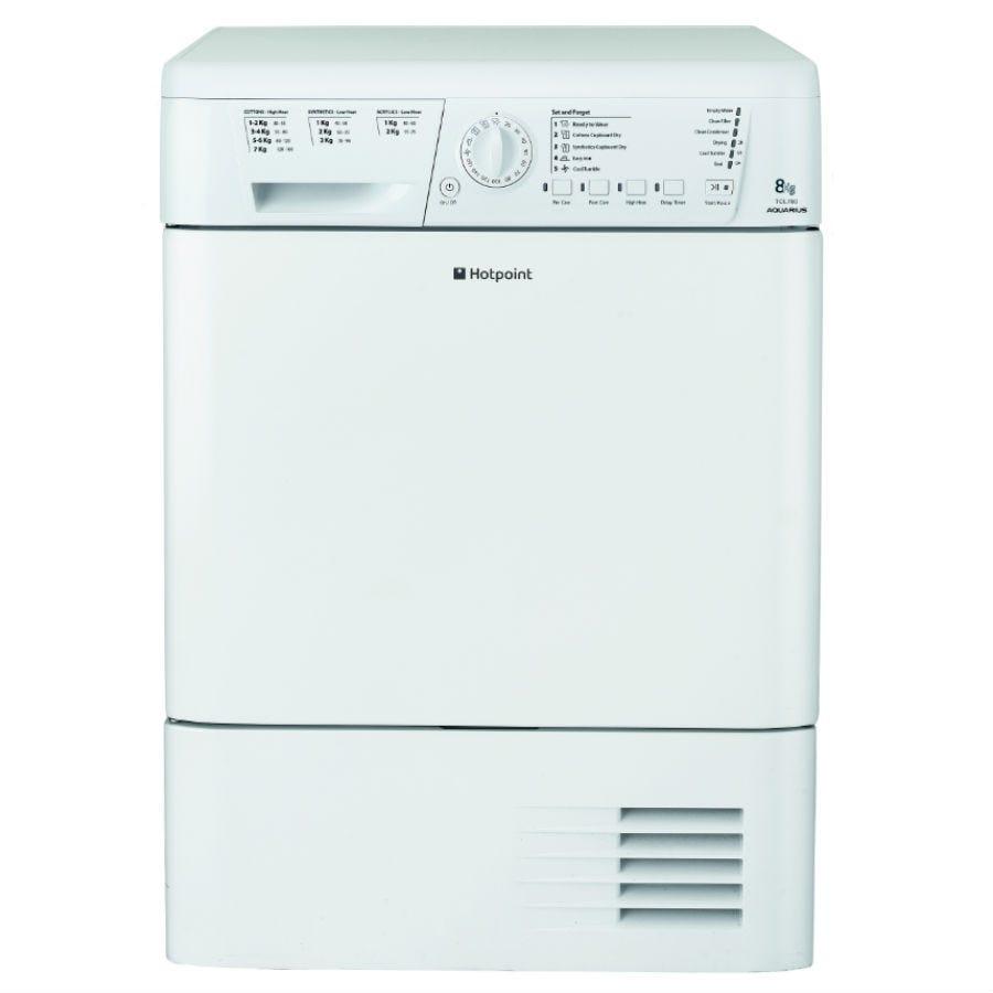 Hotpoint Aquarius TCHL780BP Condenser Tumble Dryer - White