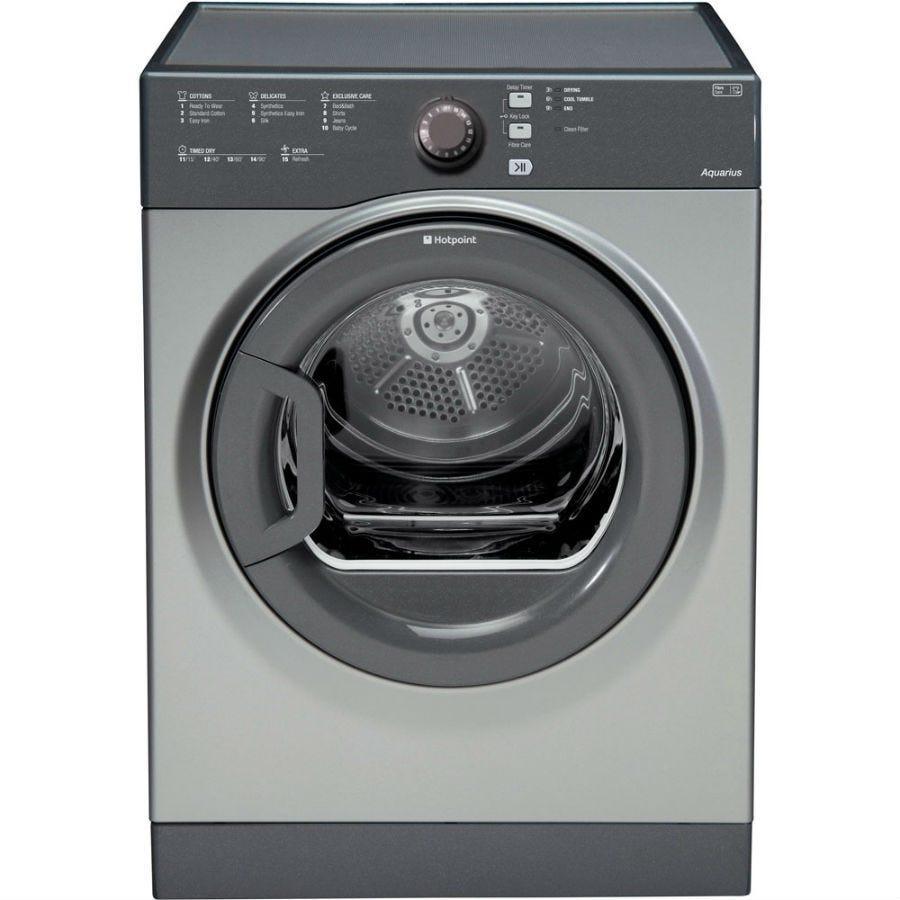 Hotpoint Aquarius TVFS73BGG Vented Tumble Dryer - Graphite