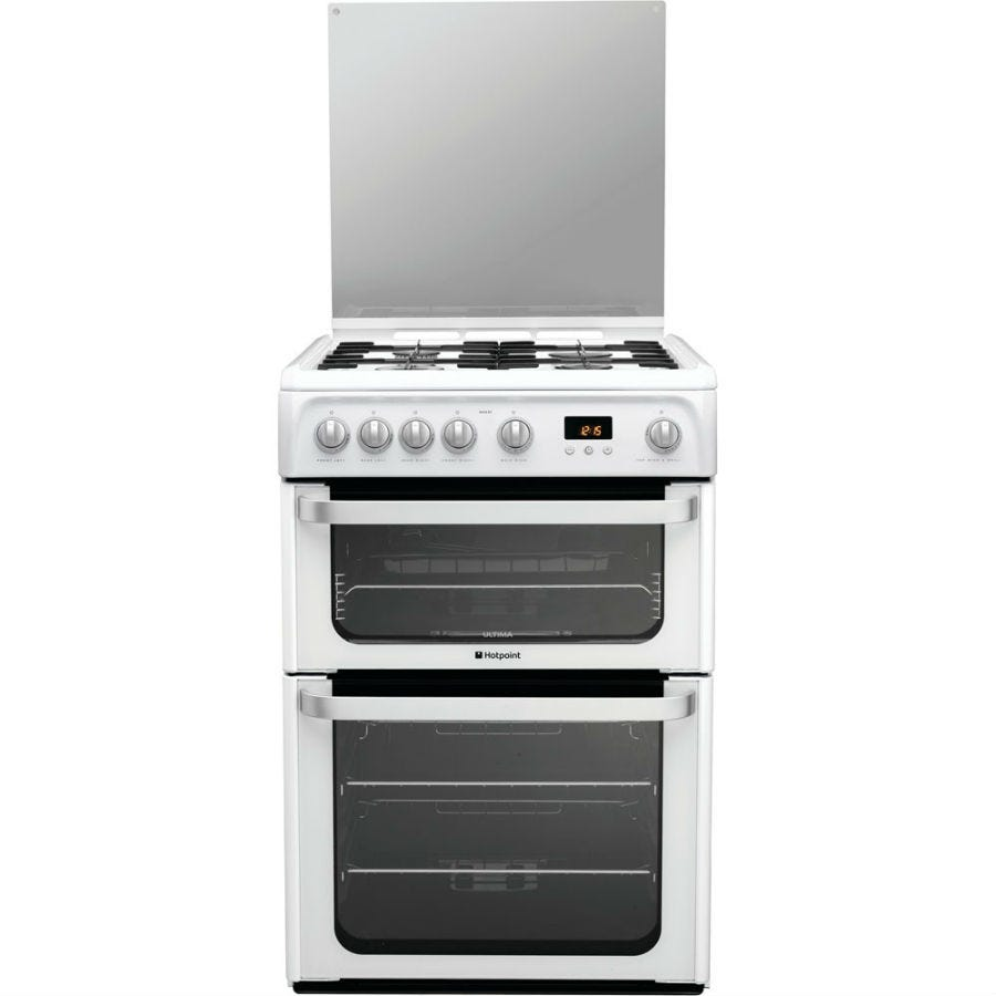 Compare prices for Hotpoint Ultima HUG61P Gas Cooker - White