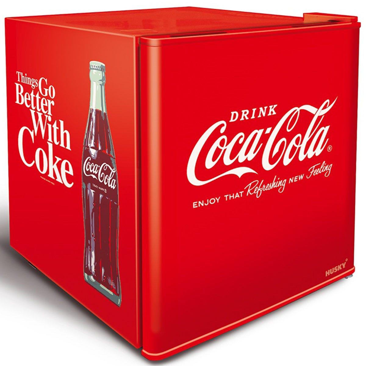 Husky HUS-EL196-HU Coca Cola 43L Mini Fridge - Red
