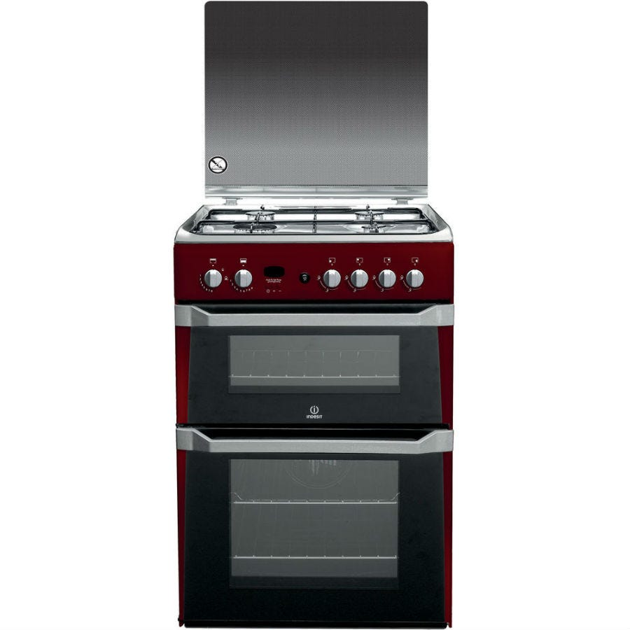 Compare retail prices of Indesit ID60G2R Gas Cooker - Red to get the best deal online