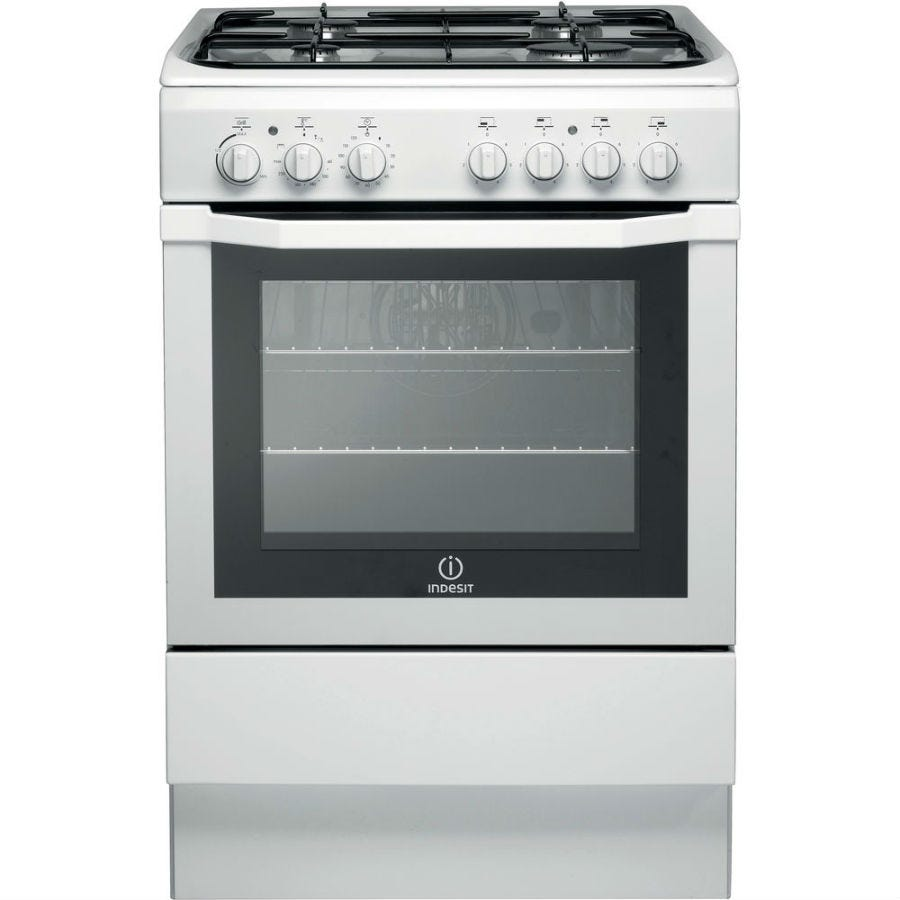 indesit i6gg1w gas cooker - white