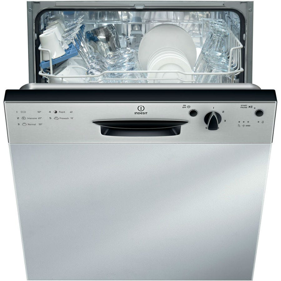 Image of Indesit Ecotime DPG15B1NX Built-in Dishwasher - Silver