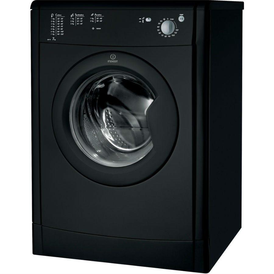 Indesit Ecotime IDV75BK Vented Tumble Dryer - Black