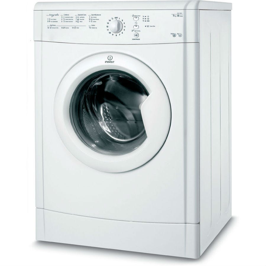 Indesit Ecotime IDVL75BR Vented Tumble Dryer - White