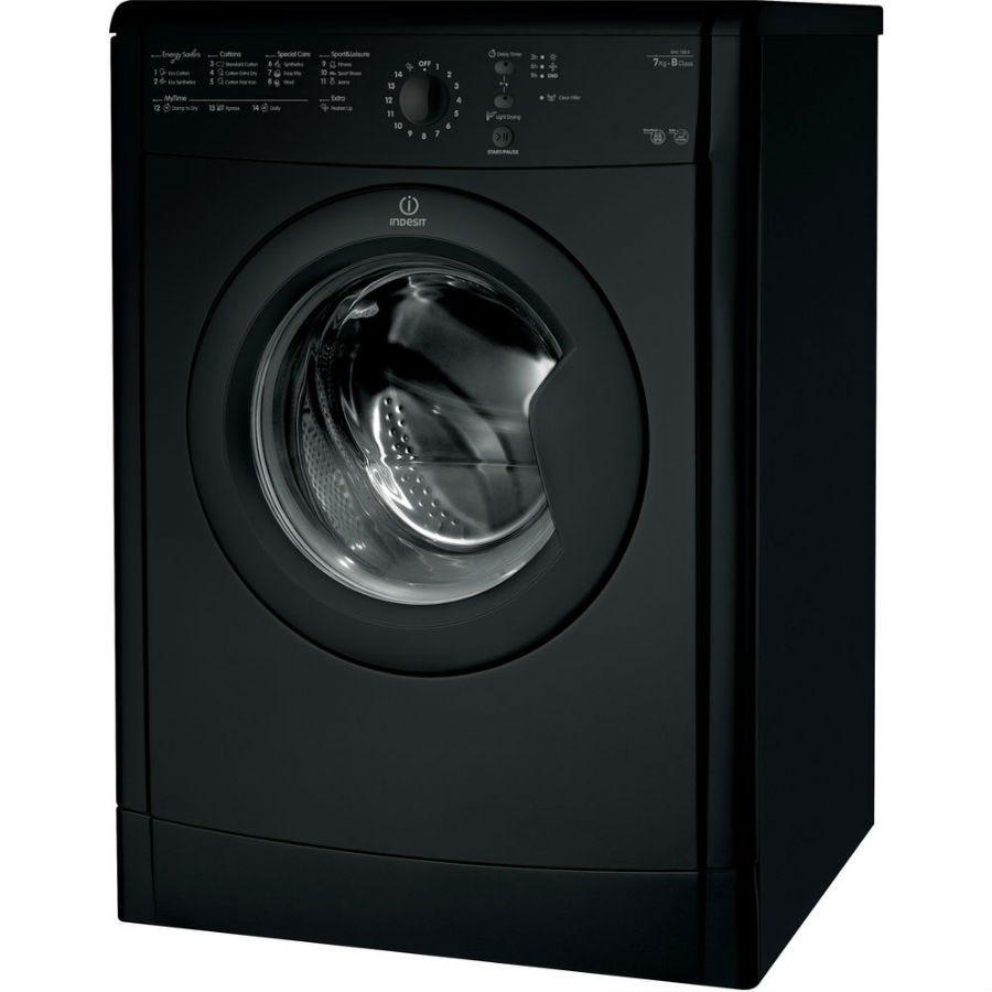 Indesit Ecotime IDVL75BRK Vented Tumble Dryer - Black