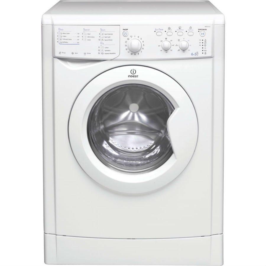 indesit ecotime iwdc6125 washer dryer - white