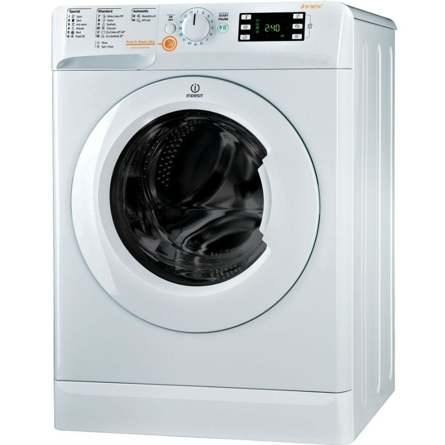 indesit innex xwde751480xw washer dryer - white