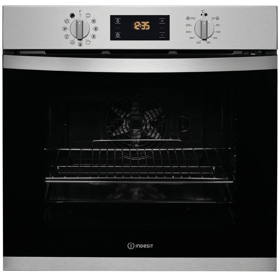 Compare retail prices of Indesit Aria KFW 3844 H IX UK Electric Single Built-in Oven - Stainless Steel to get the best deal online