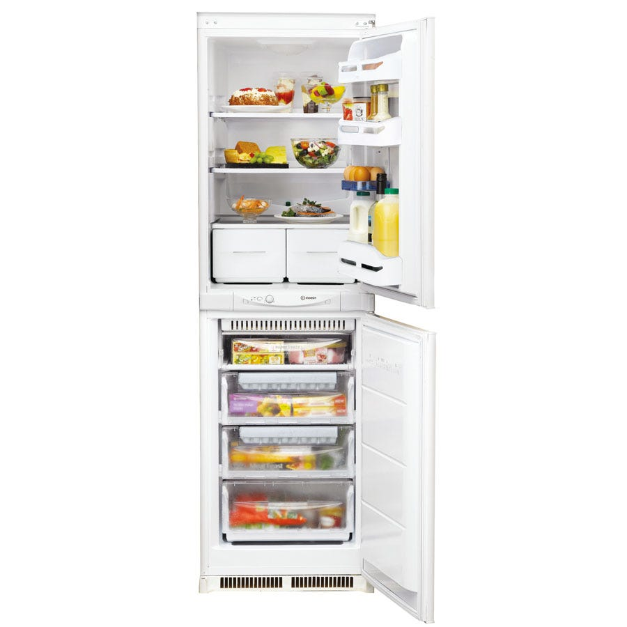 Compare prices for Indesit INC325FF Integrated Fridge Freezer - White