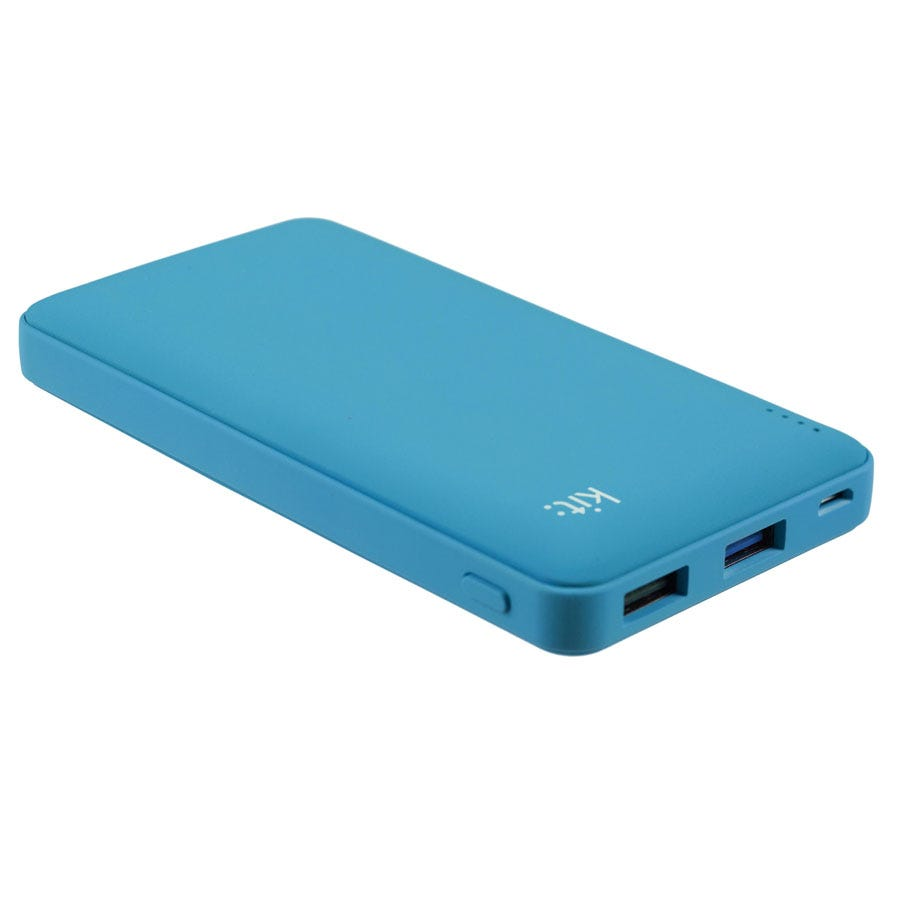 Compare cheap offers & prices of Kit 12000mAh Power Bank - Blue manufactured by Kit