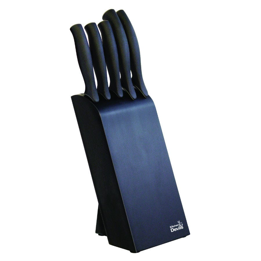 Image of Kitchen Devils 5-Piece Control Knife Block Set