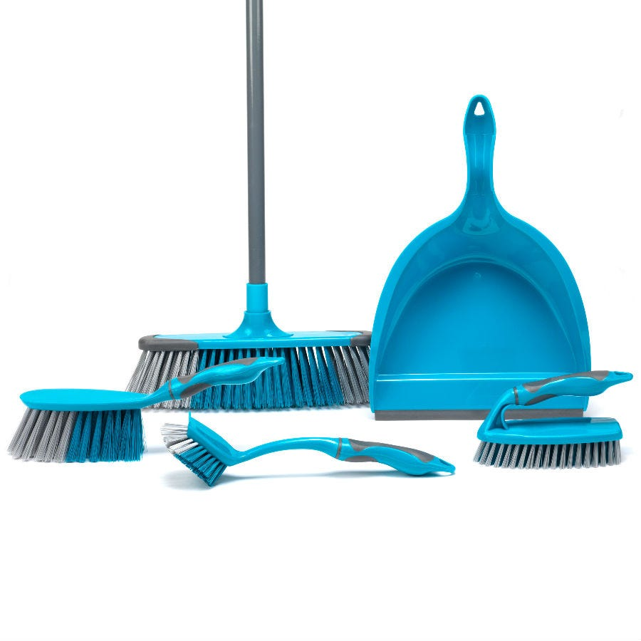 Compare retail prices of Beldray 5-Piece Cleaning Set - Turquoise to get the best deal online