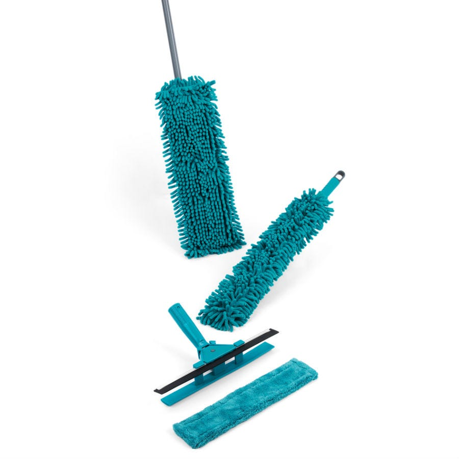 Compare retail prices of Beldray 7-Piece Duster and Mop Cleaning Set - Turquoise to get the best deal online