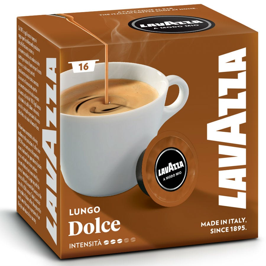 Compare prices for Lavazza Lungo Dolce Coffee Capsules - 16 Pack
