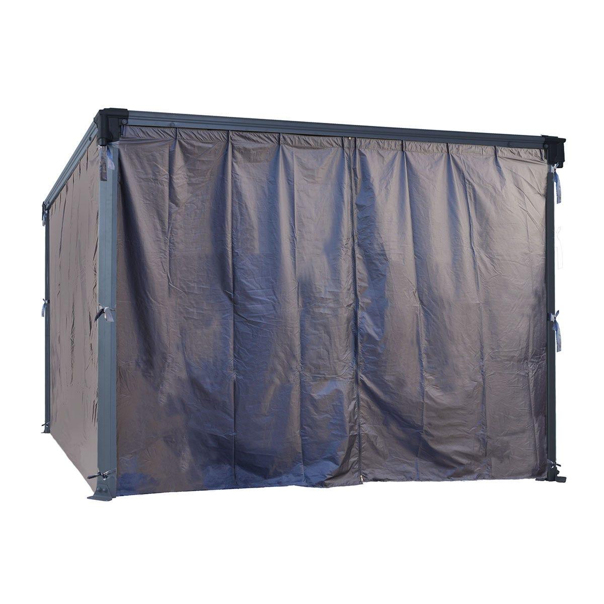 Palram - Canopia Square Gazebo Curtain Set - Black