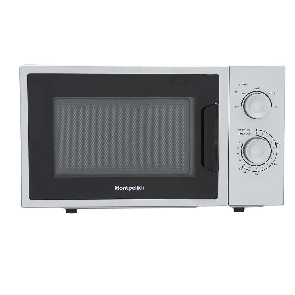 Montpellier MMW21SIL 20L Freestanding Solo Microwave - Silver